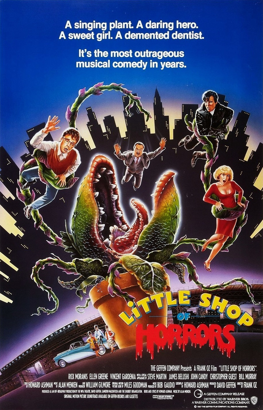 The poster for the movie version of Little Shop of Horrors.